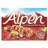 Alpen Fruit & Nut With Chocolate Cereal Bar 5 x 29g